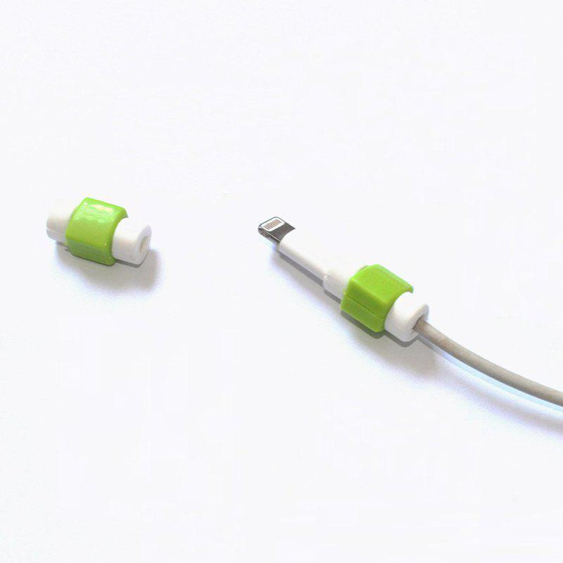 USB Date Charging Cables Saver ProtectorHOME<br><br>Color: GREEN; Type: Other Accessories; Material: PVC; Pattern: Print; Weight: 0.0100kg; Package Contents: 1 x Cable Protector;