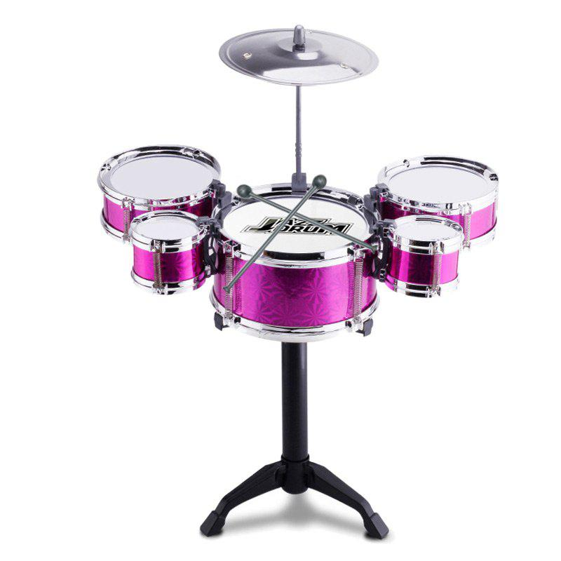 Mini Kids Drum Set For Musical Learning Educational ToyHOME<br><br>Color: TUTTI FRUTTI; Products Type: Kids Drum Set; Style: Trendy; Material: Metal,Plastic; Package Contents: 1 x Kids Drum Set;