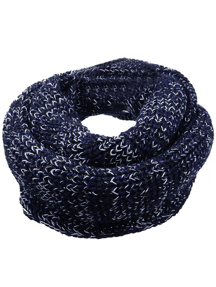 Cheap Outdoor Color Spliced Crochet Knitted Scarf