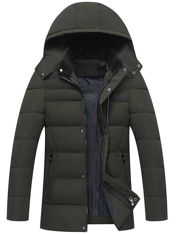 New Zip Up Detachable Hood Padded Coat