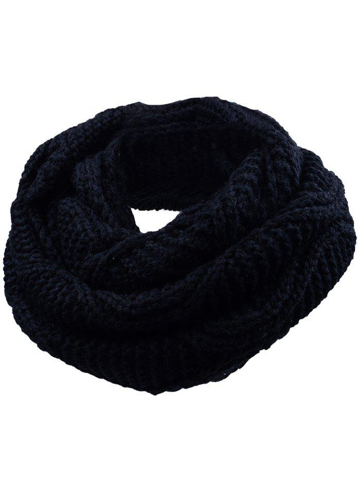 Outdoor Thicken Ribbed Knit Winter ScarfACCESSORIES<br><br>Color: YELLOW AND BLACK; Scarf Type: Scarf; Scarf Length: 60-80CM; Group: Adult; Gender: For Women; Style: Fashion; Material: Acrylic; Season: Fall,Spring,Winter; Scarf Width (CM): 30CM; Length (CM): 60CM; Weight: 0.1650kg; Package Contents: 1 x Scarf;