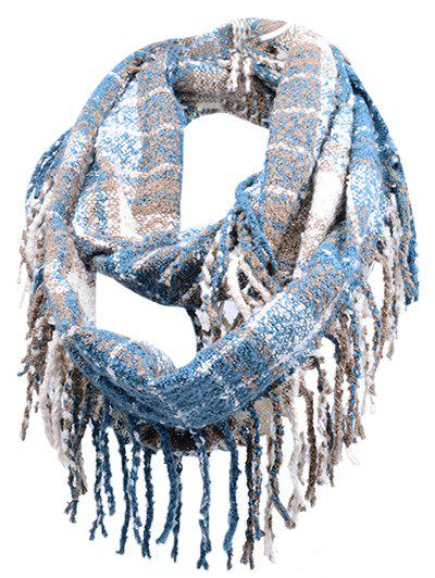 Outdoor Fringed Edge Decorated Faux Cashmere ScarfACCESSORIES<br><br>Color: WINDSOR BLUE; Scarf Type: Scarf; Scarf Length: 80-100CM; Group: Adult; Gender: Unisex; Style: Fashion; Material: Acrylic; Season: Fall,Spring,Winter; Scarf Width (CM): 30CM; Length (CM): 80CM; Weight: 0.1800kg; Package Contents: 1 x Scarf;