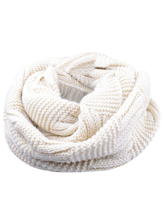 Vintage Thicken Ribbed Chunky Knit ScarfACCESSORIES<br><br>Color: BEIGE; Scarf Type: Scarf; Scarf Length: 60-80CM; Group: Adult; Gender: For Women; Style: Fashion; Material: Acrylic; Season: Fall,Winter; Scarf Width (CM): 30CM; Length (CM): 60CM; Weight: 0.1550kg; Package Contents: 1 x Scarf;