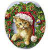 Nonslip Christmas Cat Pattern 3Pcs Bath Toilet Mats Set -