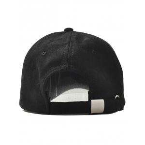 Outdoor Letter Embroidery Faux Suede Baseball Hat -