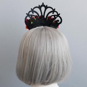 Faux Ruby Flower Crown Vintage Hairband -