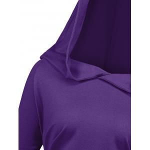 Long Plus Size Sides Ruched Hoodie -