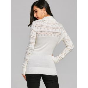 Cowl Neck Open Knitted Jumper Sweater -