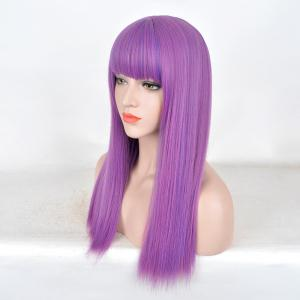Long Full Bang Straight Colormix Descendants 2 Mal Cosplay Wig -