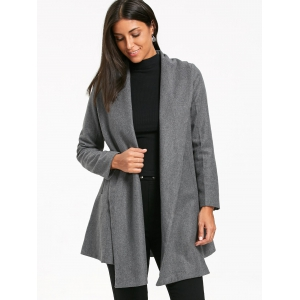 Turn Down Collar Belted Tunic Coat -