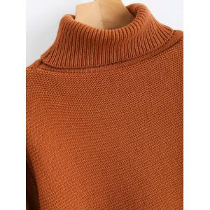 Oversized Knit Turtleneck Sweater -