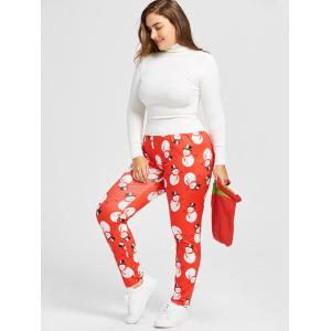Leggings maigres en neige -