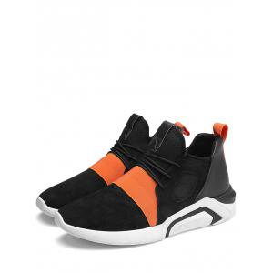 Low Top Elastic Band Breathable Athletic Shoes -