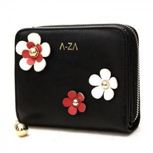 Contrasting Color 3D Flower Wallet -