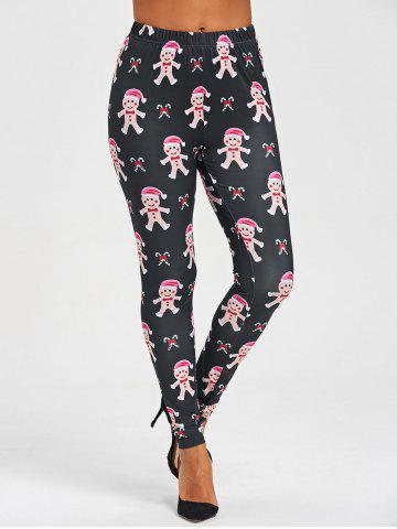Outfit Christmas Ginger Man Print Leggings