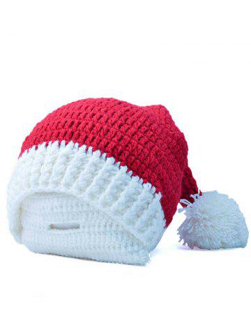 Trendy Christmas Crochet Santa Beanie Hat with Beard
