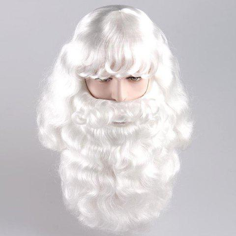 Chic Long Side Bang Fluffy Curly Santa Claus Cosplay Wig With Beard