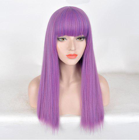 Cheap Long Full Bang Straight Colormix Descendants 2 Mal Cosplay Wig