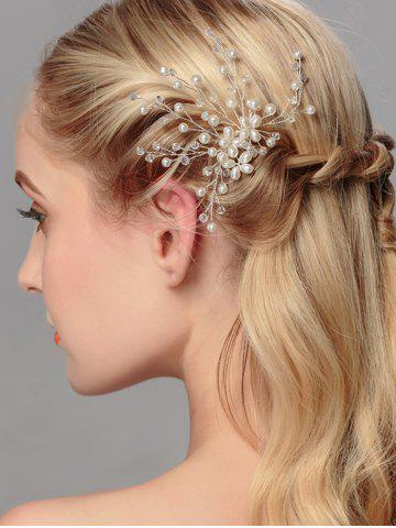 Latest Faux Pearl Wedding Tree of Life Hairpin