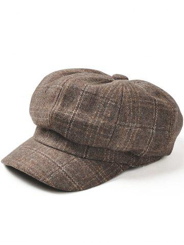 Outfits Vintage Checked Pattern Woollen Beret Hat