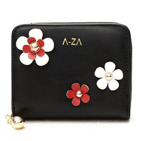Shop Contrasting Color 3D Flower Wallet