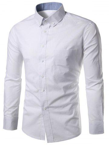 Long Sleeved Chest Pocket Button Down Shirt