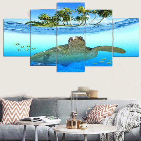 Fashion Sea Turtle Seascape Unframed Split Canvas Paintings