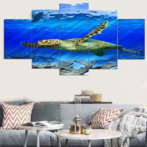 Affordable Turtle Sea Unframed Split Canvas Paintings
