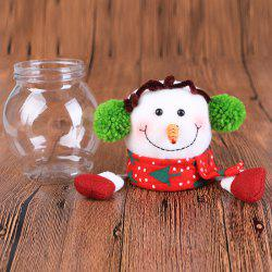 Christmas Santa Snowman Deer Doll Candy Jar -