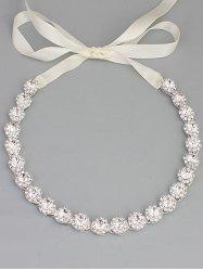 Sparkly Rhinestoned Ribbon Wedding Hair Accessory -