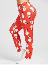 Christmas Snowman Plus Size Skinny Leggings -