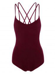 Criss Cross Strappy Jersey Bodysuit -