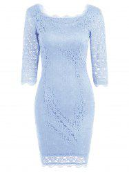 Cut Out Lace Party Bodycon Dress -