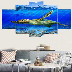 Turtle Sea Unframed Split Canvas Paintings -