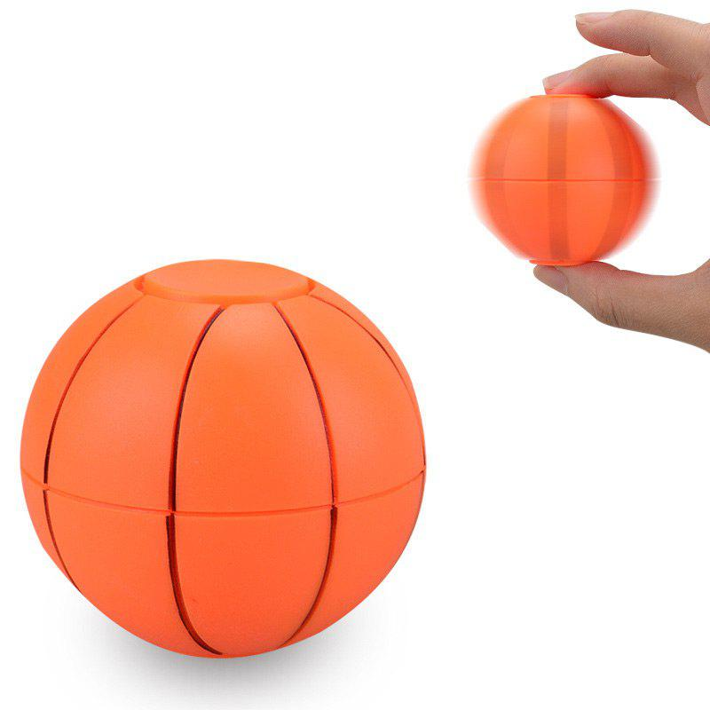 Fiddle Toys Basketball Football Finger Fidget SpinnerHOME<br><br>Color: ORANGE; Products Type: Fidget Spinner; Theme: Game; Frame material: Plastic; Features: Creative Toy; Shape/Pattern: Ball; Weight: 0.0600kg; Package Contents: 1 x Fidget Spinner;
