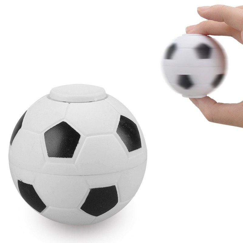 Fiddle Toys Basketball Football Finger Fidget SpinnerHOME<br><br>Color: WHITE; Products Type: Fidget Spinner; Theme: Game; Frame material: Plastic; Features: Creative Toy; Shape/Pattern: Ball; Weight: 0.0600kg; Package Contents: 1 x Fidget Spinner;