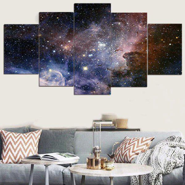 Galaxy Starry Printed Unframed Split Canvas PaintingsHOME<br><br>Size: 1PC:8*20,2PCS:8*12,2PCS:8*16 INCH( NO FRAME ); Color: COLORFUL; Subjects: Landscape; Product Type: Art Print; Features: Decorative; Style: Fashion; Hang In/Stick On: Bathroom,Bedrooms,Hotels,Kids Room,Kitchen,Living Rooms,Lobby,Nurseries,Offices,Stair; Form: Five Panels; Frame: No; Material: Canvas; Package Contents: 1 x Canvas Paintings (Set);