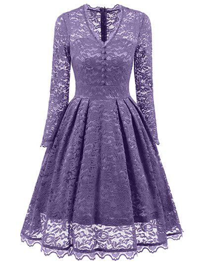 Latest Vintage Lace Long Sleeves Dress