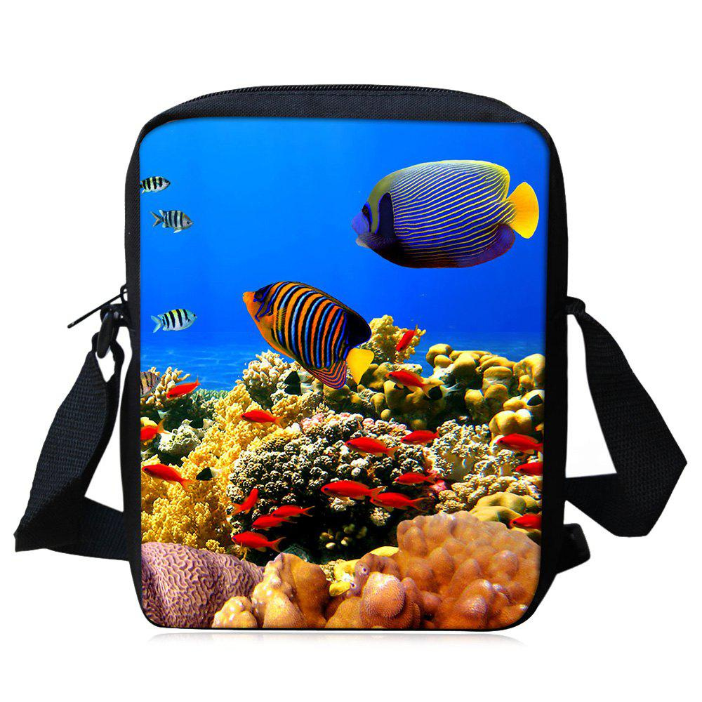 Cheap 3D Print Sea World Crossbody Bag