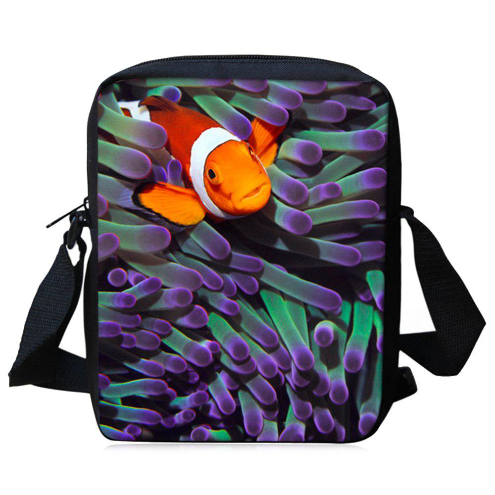 New 3D Print Sea World Crossbody Bag