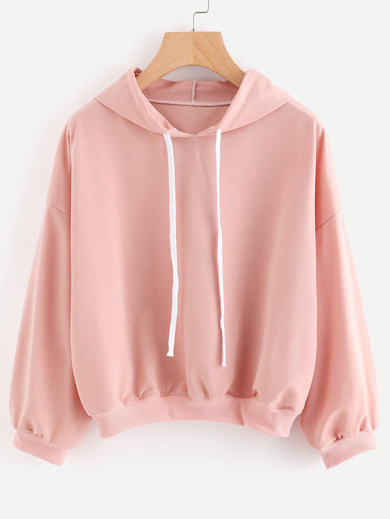Affordable Drop Shoulder Cropped Boxy Hoodie