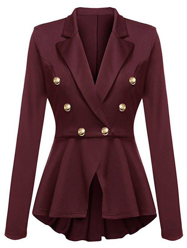 Affordable Asymmetric Peplum V Neck Blazer