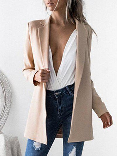 Trendy Lapel Tunic Work Blazer