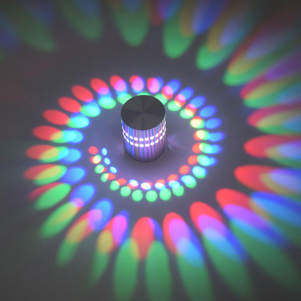 Decorative Colorful LED Wall Projection LampHOME<br><br>Color: SILVER; Products Type: Novelty Lighting; Materials: Metal; Style: Novelty; Occasion: Anniversary,Brithday Party,Carnival,Christmas Day,Halloween,Party Supplies; Weight: 0.1200kg; Package Contents: 1 x Light;