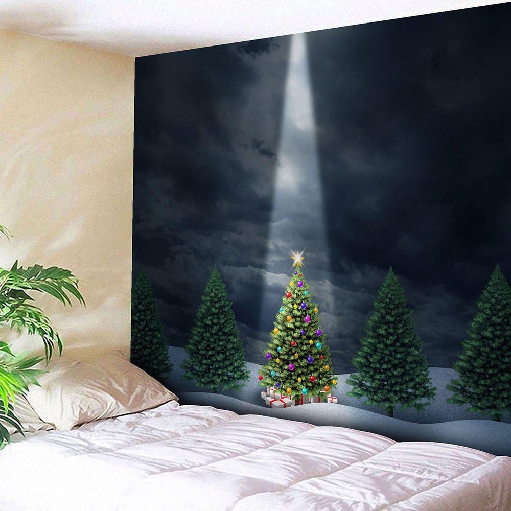 Wall Hanging Christmas Tree Printed Bedroom TapestryHOME<br><br>Size: W91 INCH * L71 INCH; Color: COLORMIX; Style: Festival; Theme: Christmas; Material: Cotton,Polyester; Feature: Removable,Washable; Shape/Pattern: Tree; Weight: 0.3950kg; Package Contents: 1 x Tapestry;