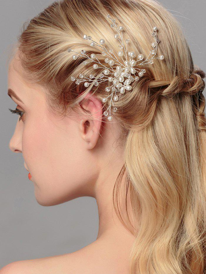 Faux Pearl Wedding Tree of Life HairpinACCESSORIES<br><br>Color: WHITE; Headwear Type: Hairpins; Group: Adult; Gender: For Women; Style: Fashion; Pattern Type: Plant; Weight: 0.0110kg; Package Contents: 1 x Hairpin;
