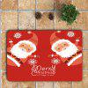 Santa Claus Printed 3Pcs Toilet Bath Rug Set -