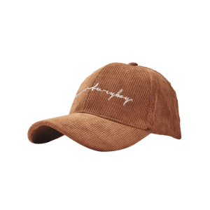 Outdoor Letter Pattern Embroidery Corduroy Baseball Hat -