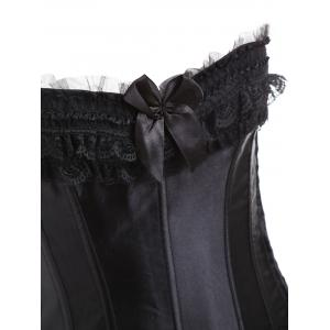 Bowknot  Gothic Steel Boned Overbust Corset Costume -