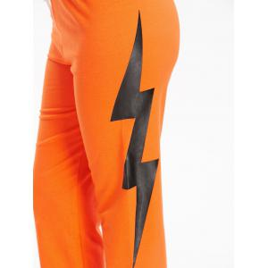 Sports Lightning Printed Drawstring Track Pants -